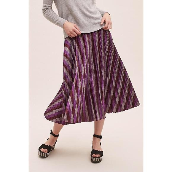 Beatrice B Dresses & Skirts - NWOT Beatrice B Metallic-Pleated Maxi Skirt